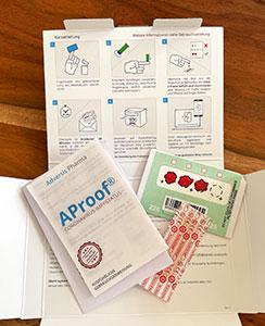 Mit dem AProof-Test kann man bequem von Zuhause aus testen, ob man bereits Antikörper auf SARS-CoV-2 nach einer Impfung oder überstandenen Infektion hat.